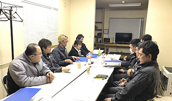 月に1回の労働安全委員会の実施